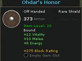 Ohdar's Honor