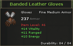 Banded Leather Gloves