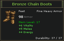 Bronze Chain Boots