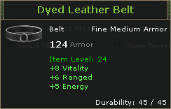 Dyed Leather Belt