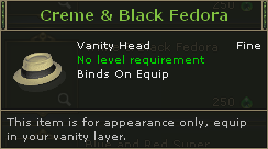 Creme & Black Fedora