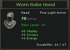 Worn Robe Hood
