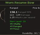 Worn Recurve Bow