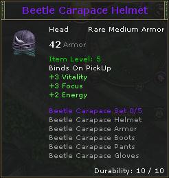 Beetle Carapace Helmet