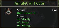 Amulet of Focus