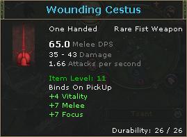 Wounding Cestus