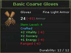 Basic Coarse Gloves