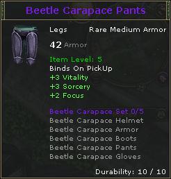Beetle Carapace Pants