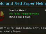 Gold and Red Super Helmet