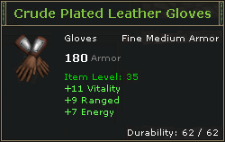 Crude Plated Leather Gloves