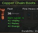 Copper Chain Boots