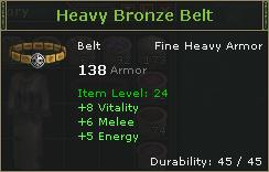 Heavy Bronze Belt