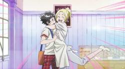 Mimi hugging Chuuta