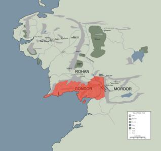 Gondor-localizacion