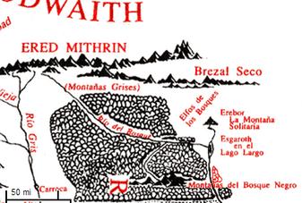 Brezal marchito mapa