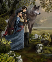 Beren luthien and huan by steamey