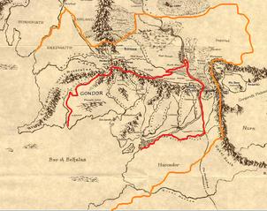 Gondor-mapa