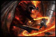 Gandalf vs balrog