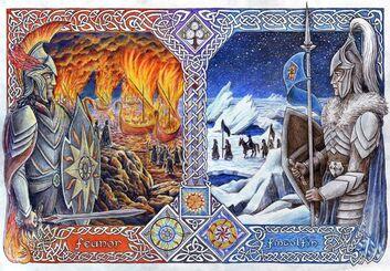 Feänor y Fingolfin