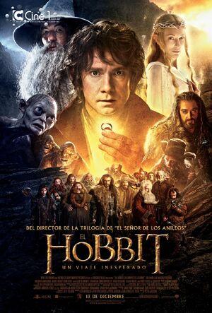 póster de la película de fantasía El hobbit