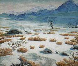 Brezal marchito paisaje