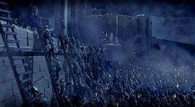 Uruk hai en el Abismo de Helm