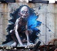 Gollum Graffiti Art Street