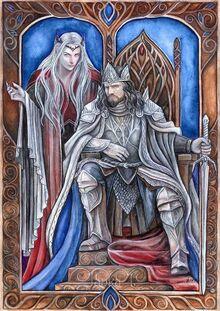 Sauron corrompiendo a ar-pharazon