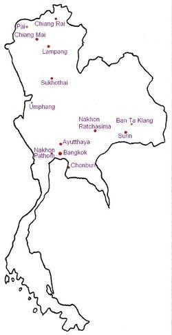 Karte von Thailand