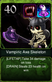 Vampiric Axe Skeleton HQ