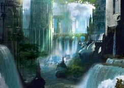 Realia fantasy trees lights shadows waterfalls rivers 1148x820 wallpaper www.wall321.com 2