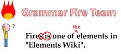 Grammar Fire Team