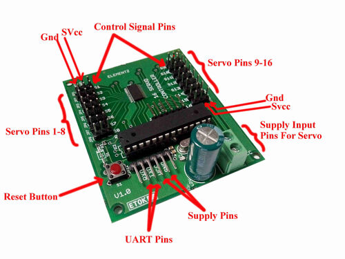 Servo controller board pinout