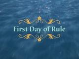 El primer día de reinado