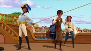 Mateo,Elena,Esteban and Higgens boarding the ship