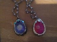 Two Amulets Purple And Pink