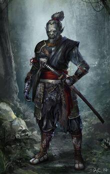 Orc samurai for brainstorm by showmeyourmoves-d830hin