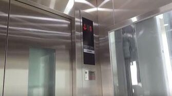 Brand New Shanghai Mitsubishi Glass Traction Elevator