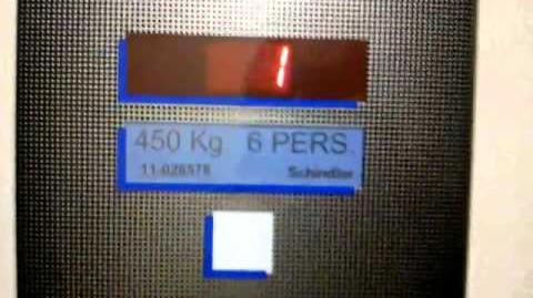 Nice Schindler Traction elevator @ Jerez de la Frontera, Spain