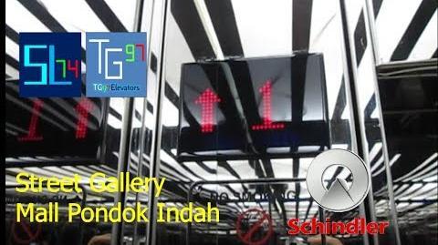 Elevator Duo Schindler MRL Elevator at Street Gallery - Mall Pondok Indah, Jakarta