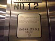 1985 Schindler M-Line nameplate