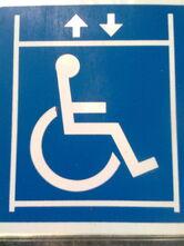 Wheelchair Elevator Sign