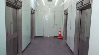 Floor Passing Beep! OTIS Elevonic 411M Traction Lifts Elevators @ Sovereign House, Wellington, NZ-0