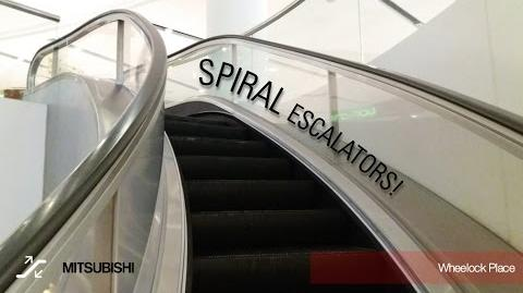 Mitsubishi Spiral Escalators at Wheelock Place, Singapore
