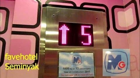 Another MG Traction Elevator at favehotel Seminyak, Bali