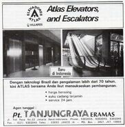1991 Elevadores Atlas advert Indonesia