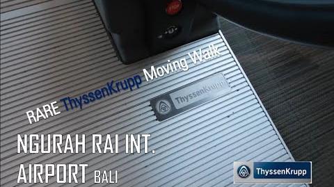 ThyssenKrupp iWalk Moving Walk at Ngurah Rai Int