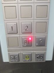 Schindler 3300 AP Braille Buttons