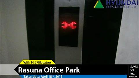 (Out of Service) Hyundai Lift at Rasuna Office Park, Jakarta