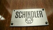 Vintage Schindler nameplate VN62